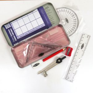 Student Solutions Mathematical Set in a Tin, Pink