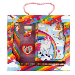 Girls Unicorn Castle Stationery Box Set