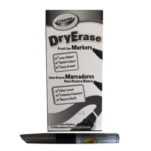 Crayola Dry Erase Markers, Chisel Tip, Black