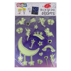 Oodles Glow in the Dark Raised Stickers - Fairy, Stars, Rainbow and Moon