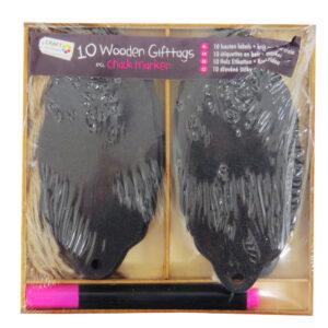 Wooden Black Gift Tag Chalk Labels - Vintage 2