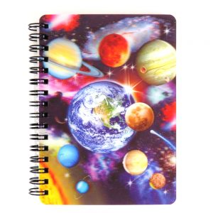 Super 3D Moving Cover A6 Wirebound Notebook, Solar System