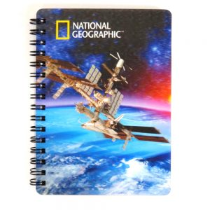 Super 3D Moving Cover A6 Wirebound Notebook, Space Station