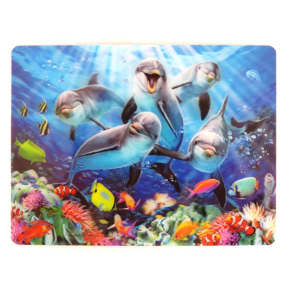 Howard Robinson Super 3D Moving Postcard, Dolphin Delight