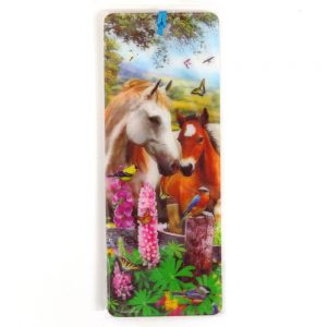 Howard Robinson Super 3D Moving Bookmark, Horses Summer Meadow