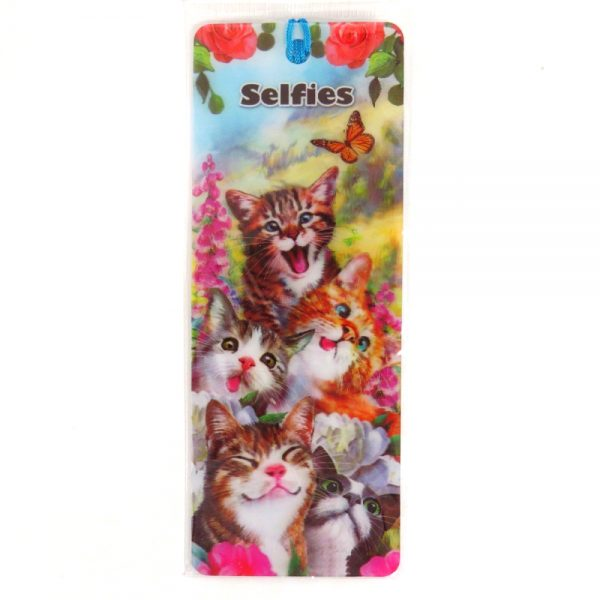 Howard Robinson Super 3D Moving Bookmark, Cat Selfie