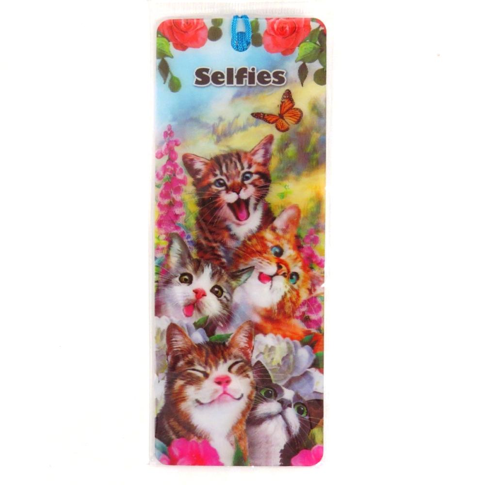 Howard Robinson Super 3D Moving Bookmark, Cat Selfie