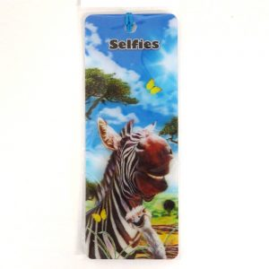 Howard Robinson Super 3D Moving Bookmark, Zebra Selfie