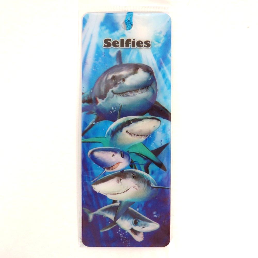 Howard Robinson Super 3D Moving Bookmark, Shark Selfie