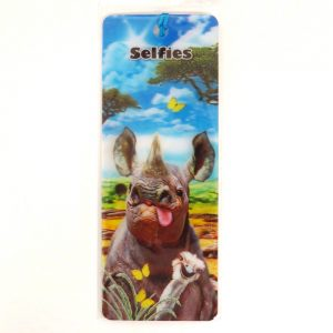 Howard Robinson Super 3D Moving Bookmark, Rhino Selfie