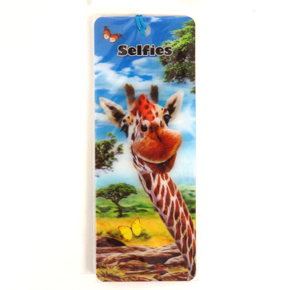 Howard Robinson Super 3D Moving Bookmark, Giraffe Selfie
