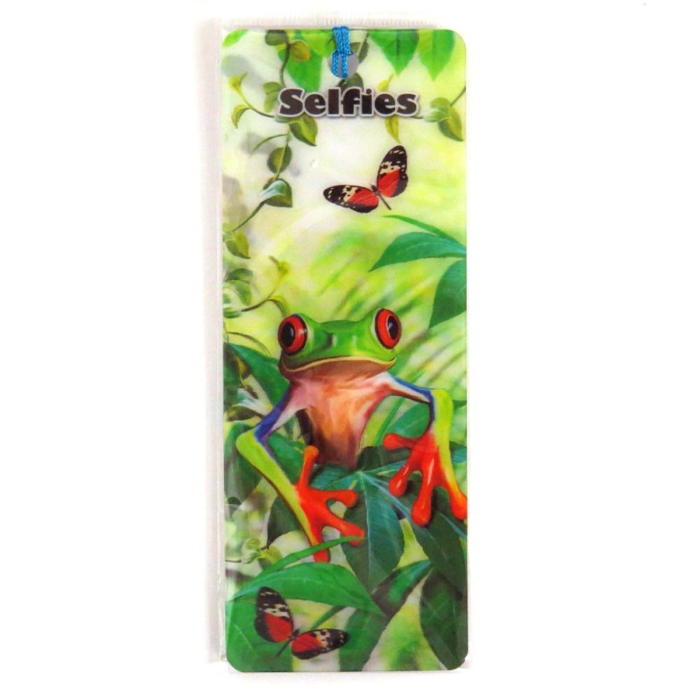 Howard Robinson Super 3D Moving Bookmark, Tree Frog Selfie