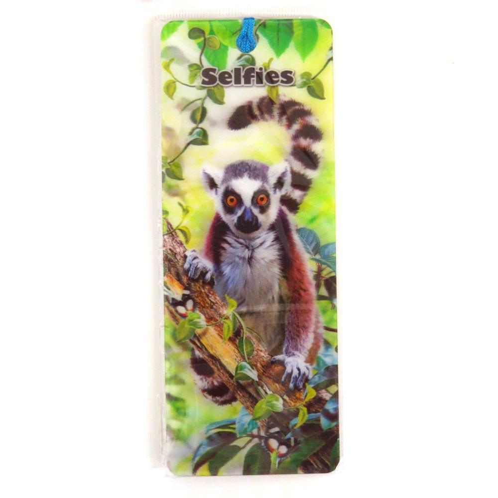 Howard Robinson Super 3D Moving Bookmark, Lemur Selfie