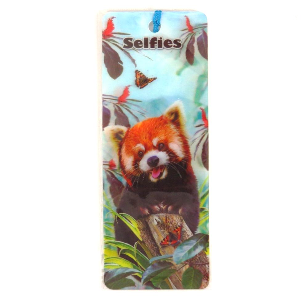 Howard Robinson Super 3D Moving Bookmark, Red Panda Selfie