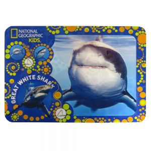 National Geographic Super 3D Moving Animal Placemat, Great White Shark