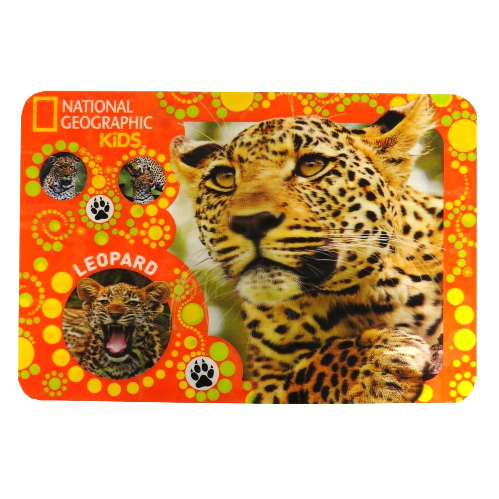 National Geographic Super 3D Moving Animal Placemat, Leopard