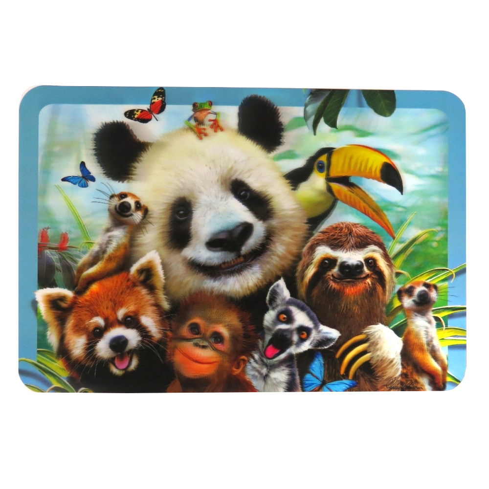 Super 3D Moving Animal Placemat, Zoo Selfie