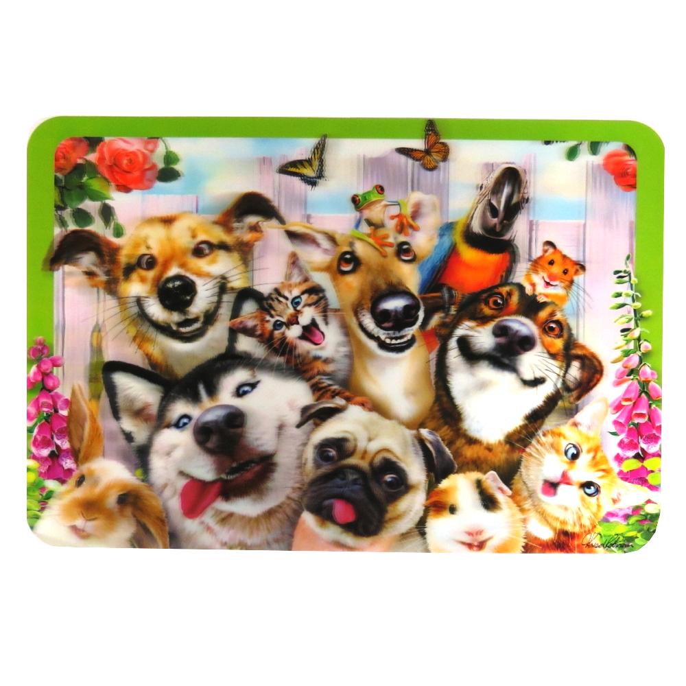 Super 3D Moving Animal Placemat, Pet Selfie