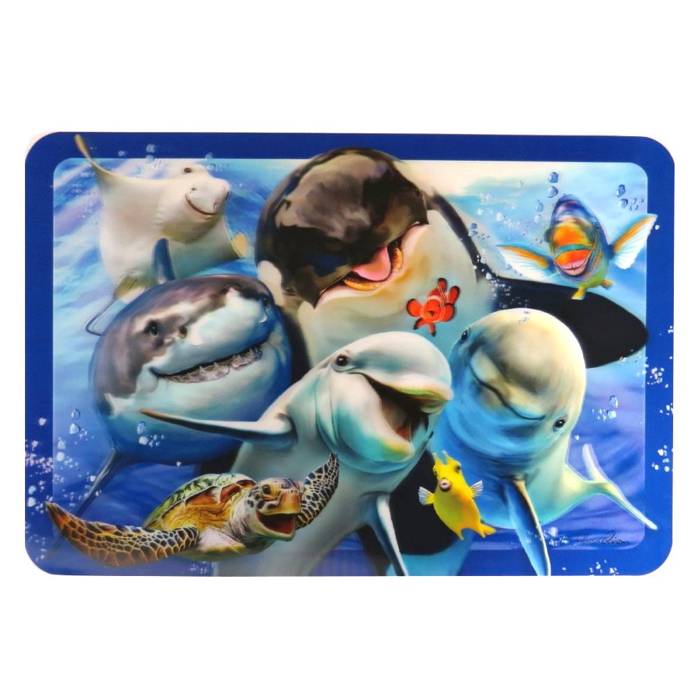 Super 3D Moving Animal Placemat, Ocean Selfie