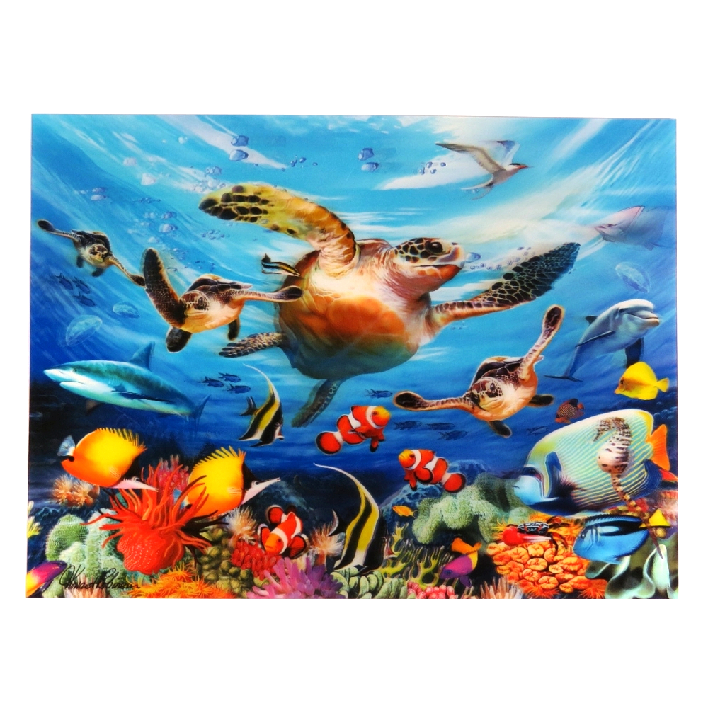Super 3D Moving Animal Poster, Journey of the Sea Turtle