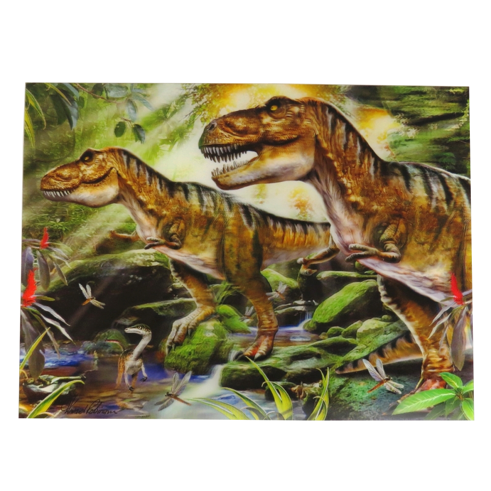 Super 3D Moving Animal Poster, Dinosaur Double Trouble