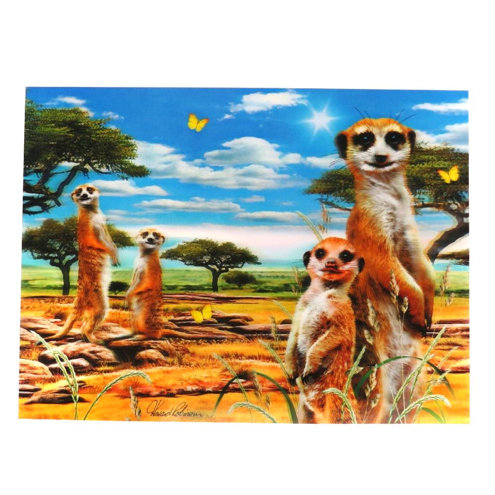 Super 3D Moving Animal Poster, Meerkats