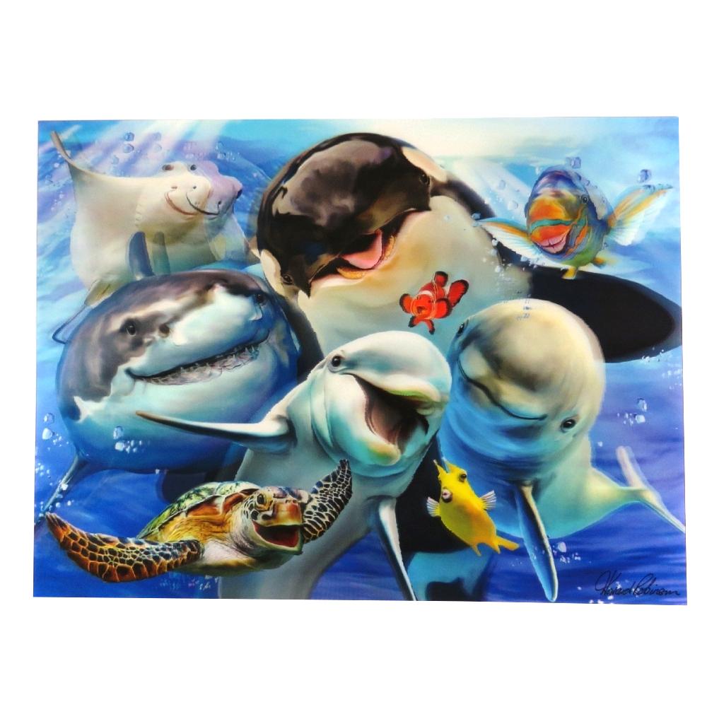 Super 3D Moving Animal Poster, Ocean Selfie