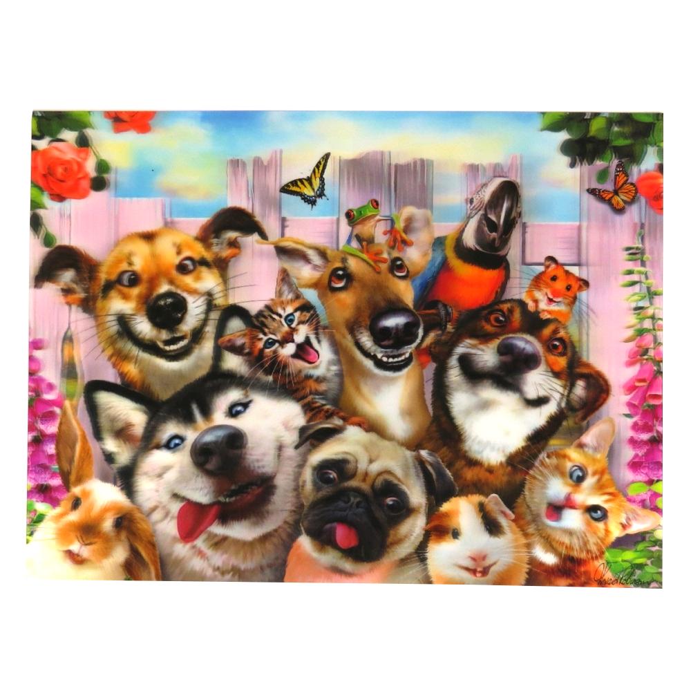Super 3D Moving Animal Poster, Pet Selfie