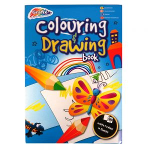 Grafix 2 in 1 A4 Colouring and Drawing Pad
