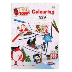 Tinsel Town A4 Christmas Colouring Book Front