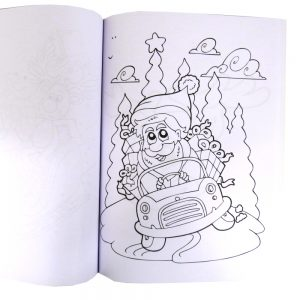 Tinsel Town A4 Christmas Colouring Book Open