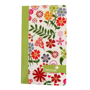 Marlene West Slim Writing Notebook Floral Green