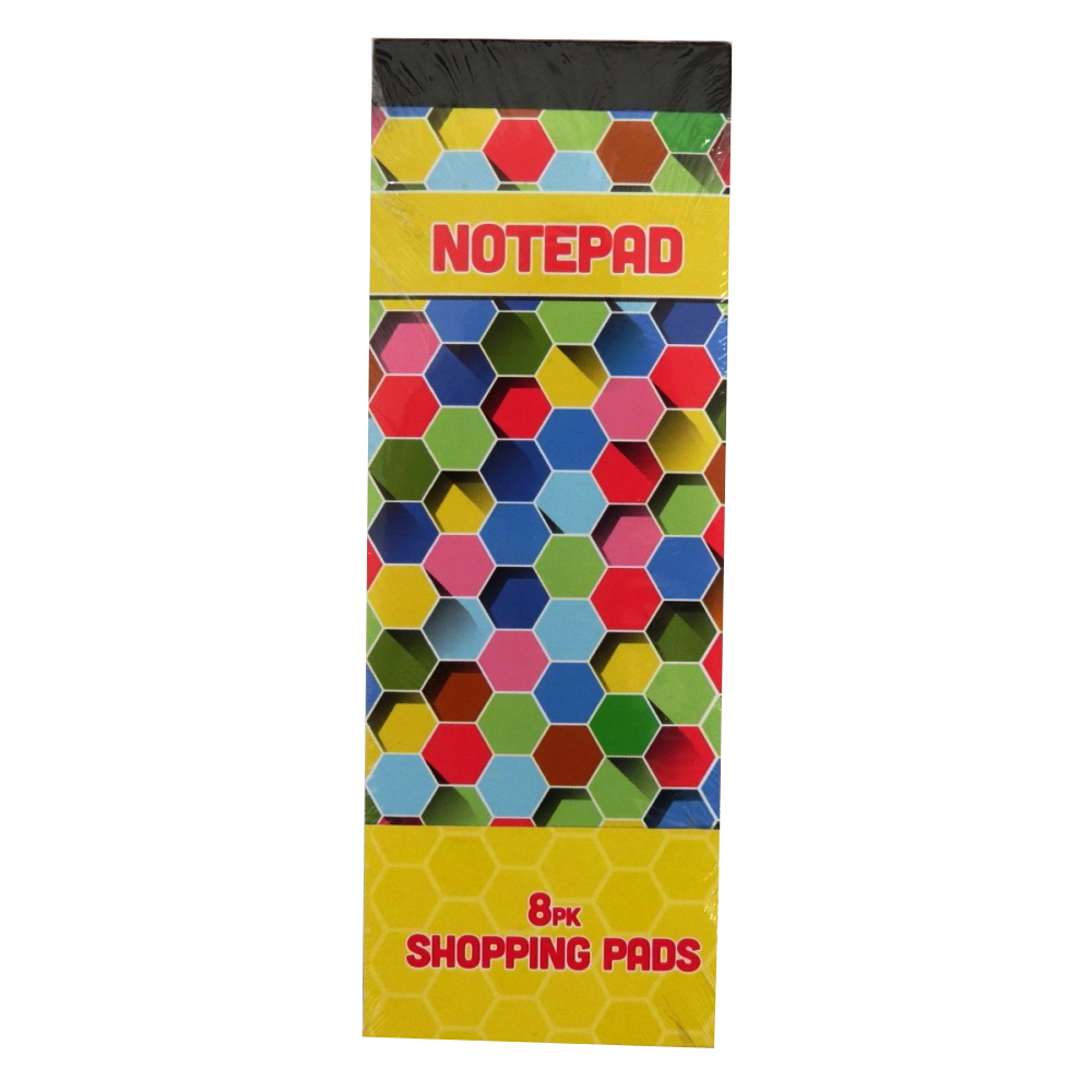 Slim Shopping or To Do List Notepads - Pack of 8
