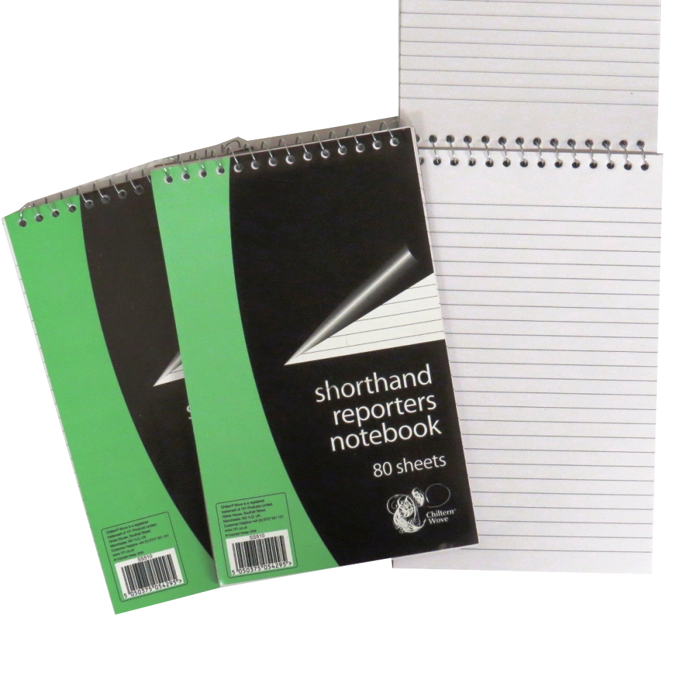 Shorthand Reporters Style Notebook, Pack of 3