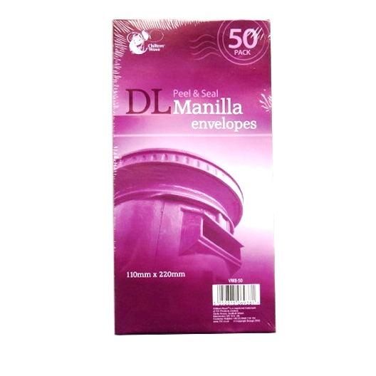 DL Envelopes Manilla - Pack of 50