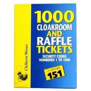 Chiltern Cloakroom Raffle Tickets 1000