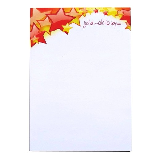 A5 Notepad Plain - Stars Design