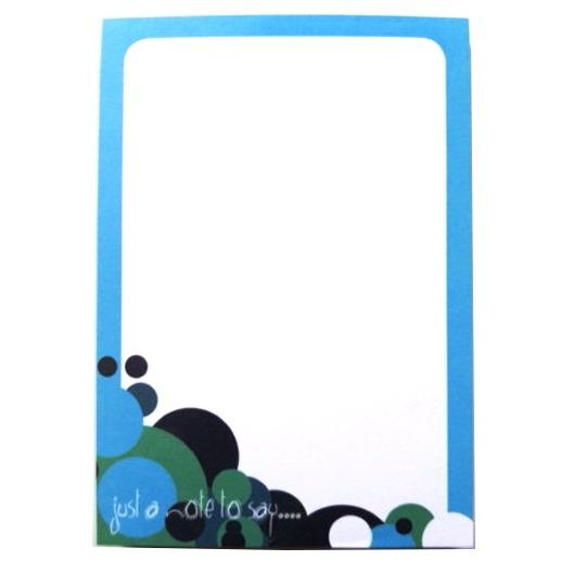 A5 Notepad Plain - Spots Design
