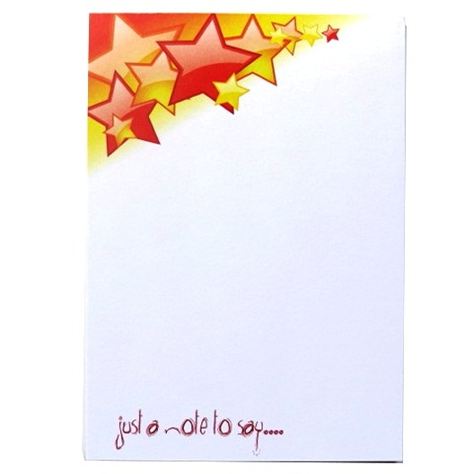 A6 Memo Notepad Plain - Stars Design