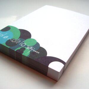 A6 Memo Notepad Plain - Spots Design