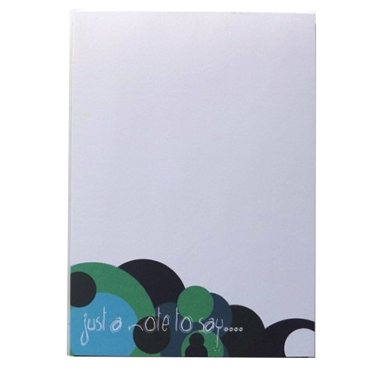 A6 Memo Notepad Plain - Spots Design