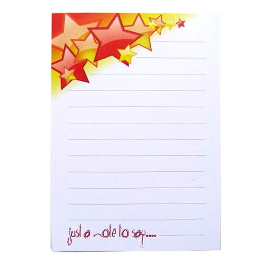 A6 Memo Notepad Ruled - Stars Design
