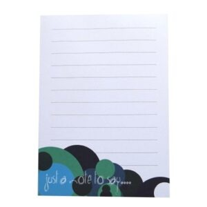 A6 Memo Notepad Ruled - Spots Design