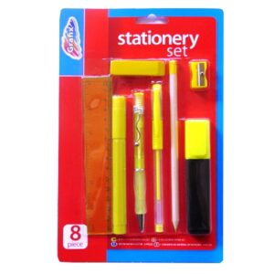 School Stationery Set - 8 Piece