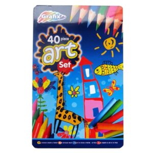 40 Piece Art Set in a Tin