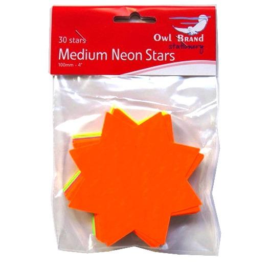 Neon Medium Stars