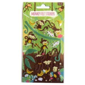 Monkey Felt Stickers
