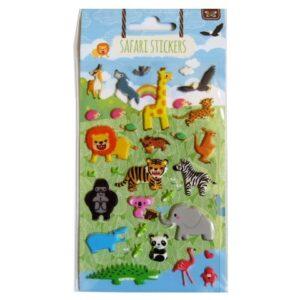 Safari Raised Stickers