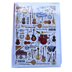 A6 Casebound Notebook - Musical Instruments