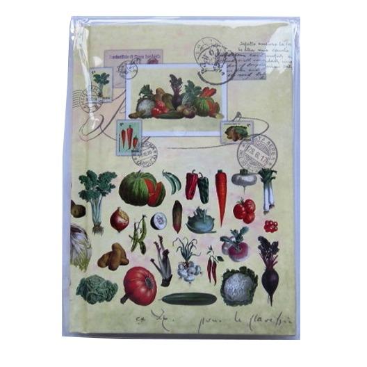A6 Casebound Notebook - Vegetables